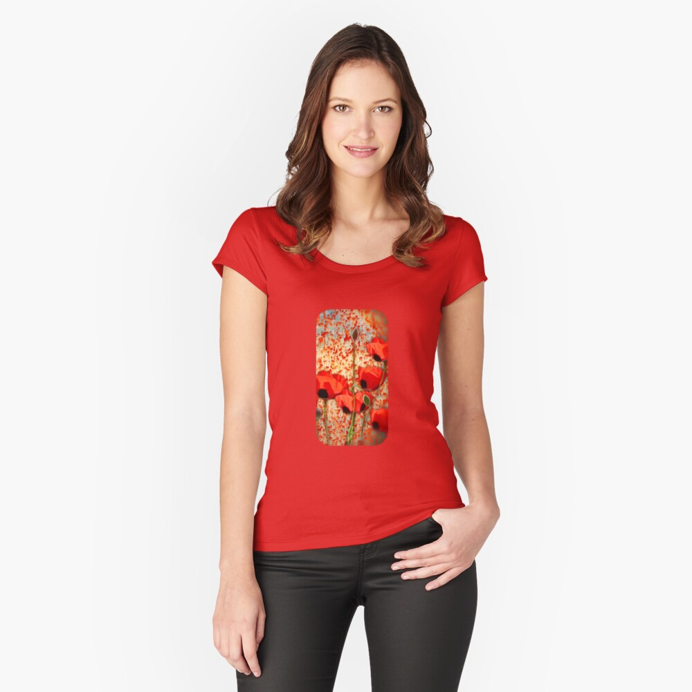Flanders fields  Women's Fitted Scoop T-Shirt Front