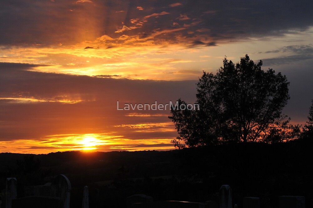 Sundown At the Cemetery by LavenderMoon