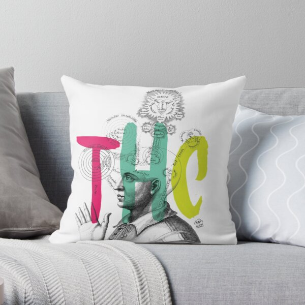 THC Minds Throw Pillow