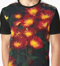 Red Chrysanthemums Graphic T-Shirt