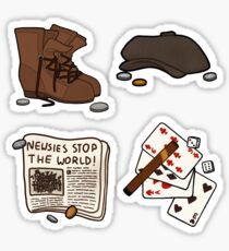 newsies stickers Sticker