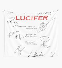 Lucifer Script Wall Tapestry