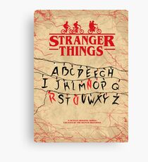 Stranger Things - Minimal TV-Show Fanart alternative Canvas Print