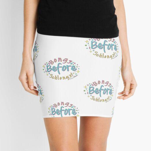 Bongs Before Schlongs Mini Skirt