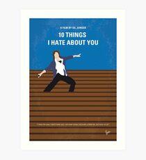 No850 Meine 10 Dinge, die ich über dich hasse minimal Filmplakat Kunstdruck