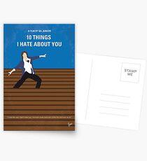 No850 Meine 10 Dinge, die ich über dich hasse minimal Filmplakat Postkarten