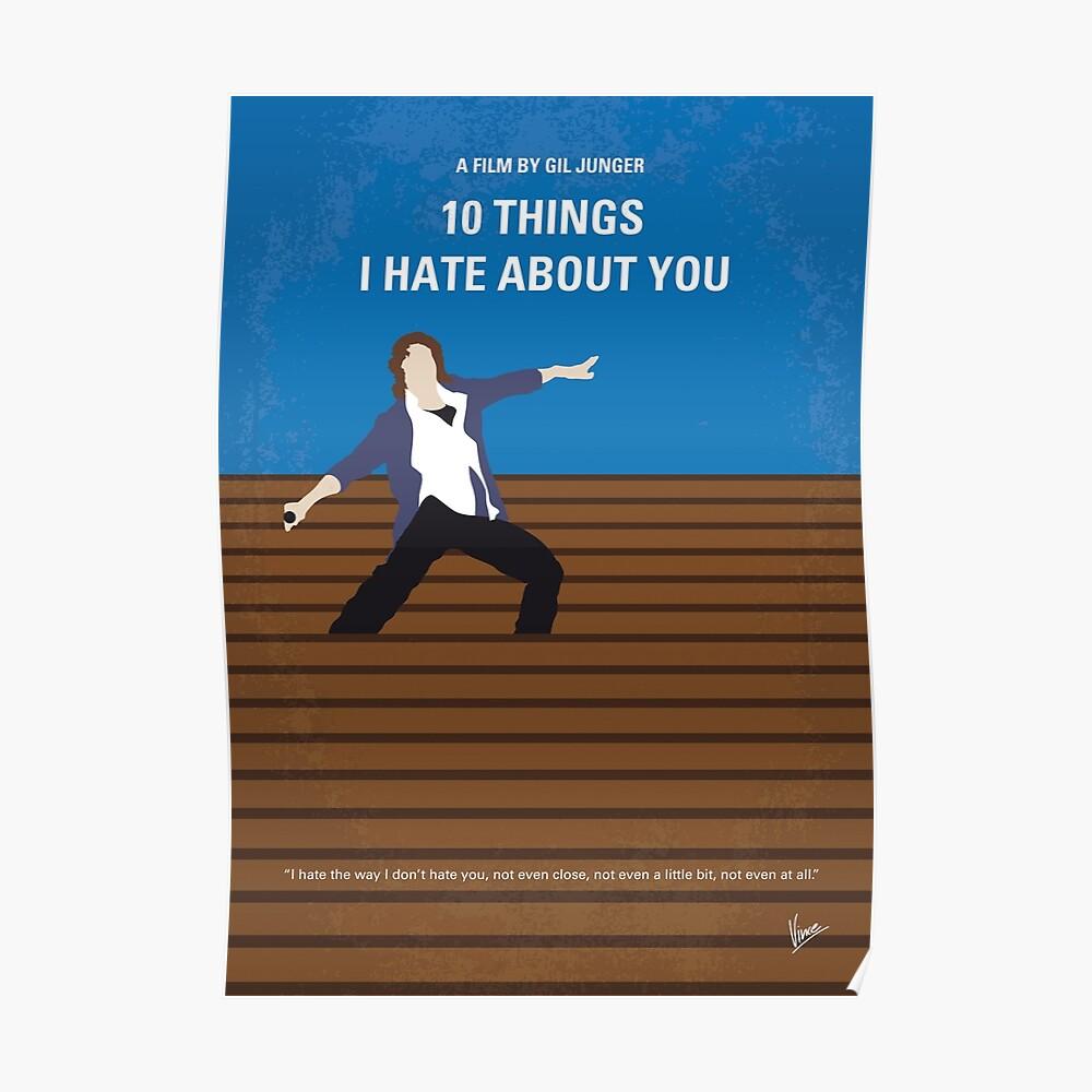 No850 Meine 10 Dinge, die ich über dich hasse minimal Filmplakat Poster