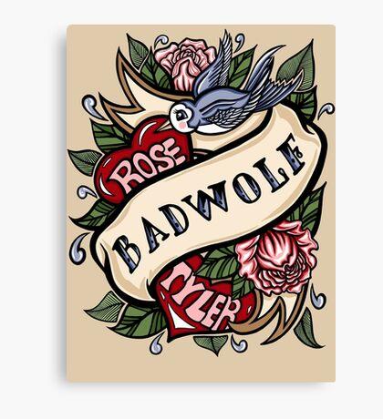 BadWolf Tattoo Canvas Print