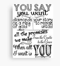U2 Song Lyrics Wall Art   Redbubble