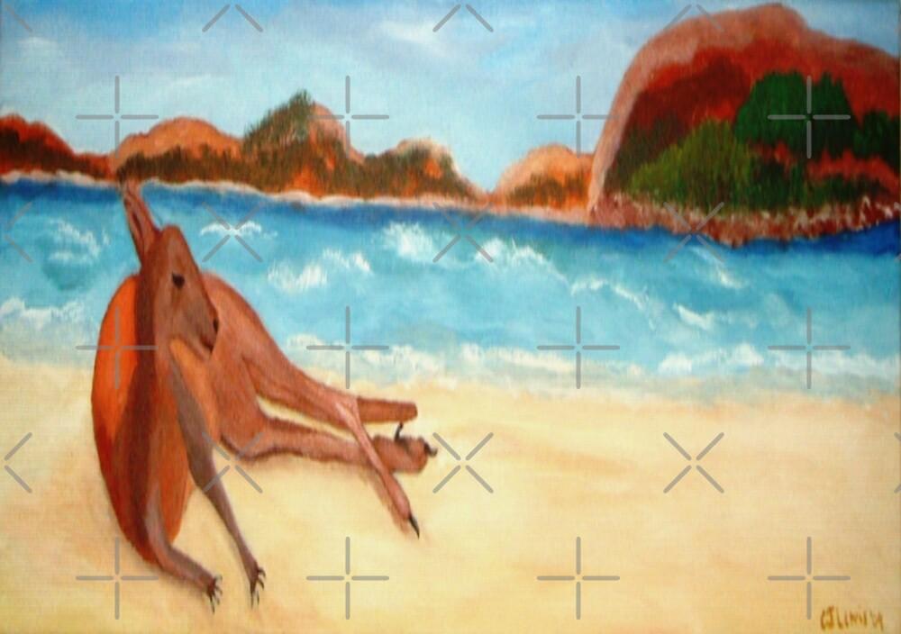 Lazy Days, Esperance Beach, WA, Australia   by C J Lewis