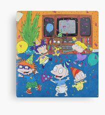 Rugrats Nickelodeon Tommy Chuckie Angelica  Canvas Print