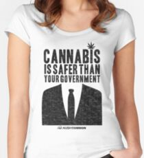 Cannabis is Safer Than Your Government Women's Fitted Scoop T-Shirt