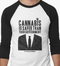Cannabis is Safer Than Your Government Men's Baseball ¾ T-Shirt