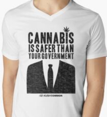 Cannabis is Safer Than Your Government V-Neck T-Shirt