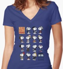 The 13 + 1 Dogtors Women's Fitted V-Neck T-Shirt