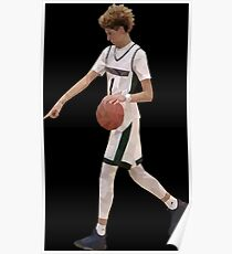 LaMelo Ball From Half Court Low Poly Poster