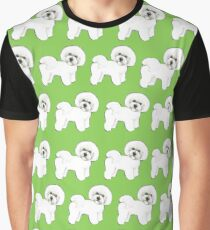 Bichon, full of fun, Bichon Frise, green, Bichon Frise dog. Cute dog. gift for dog lover Graphic T-Shirt