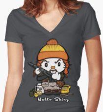 Hi Shiny Women's Fitted V-Neck T-Shirt