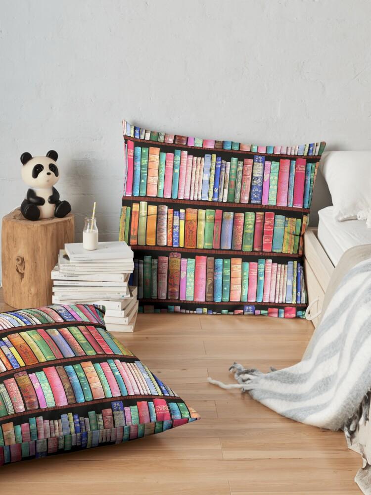 Alternate view of Bookworm Antique books Floor Pillow