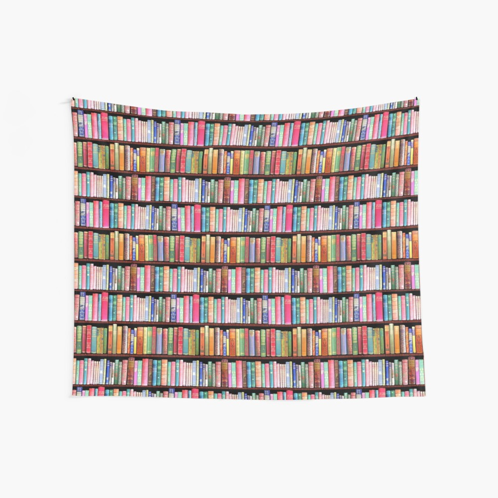 Bookworm Antique books Wall Tapestry