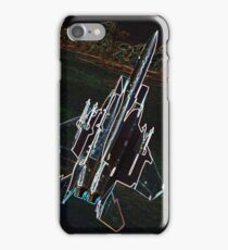 Neon F-15 Fighter Jet iPhone Case/Skin