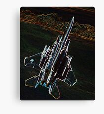 Neon F-15 Fighter Jet Canvas Print