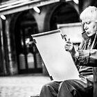 The old man painter II by Stwayne