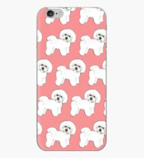 Bichon Frise dogs on coral pink / Christmas gift for dog lover, girls gift, cute gift, coral pink gift, pretty gift, dog lovers gift, Bichon Mom gift, Holiday gift iPhone Case