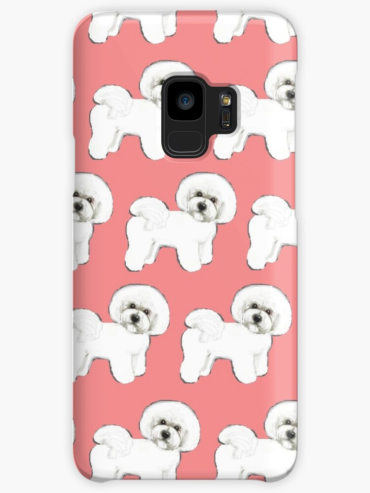 Bichon Frise Dogs On Coral Pink Christmas Gift For Dog Lover