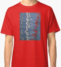 Red, White and Blurred Classic T-Shirt