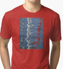 Red, White and Blurred Tri-blend T-Shirt