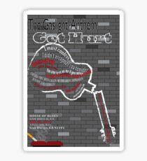 The Gaslight Anthem Get Hurt Tour Poster  Sticker