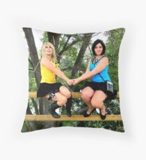 Female Spock and Kirk in love Throw Pillow