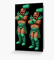 Golden Axe Bad Brothers Greeting Card