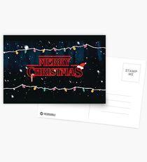 Merry Christmas Stranger Things Postcards