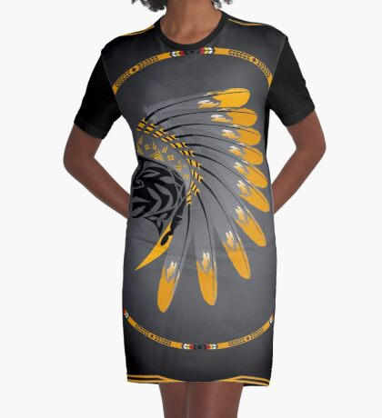 Honor and Strength Graphic T-Shirt Dress