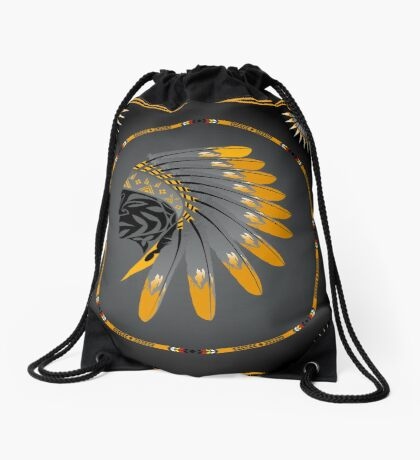 Honor and Strength Drawstring Bag