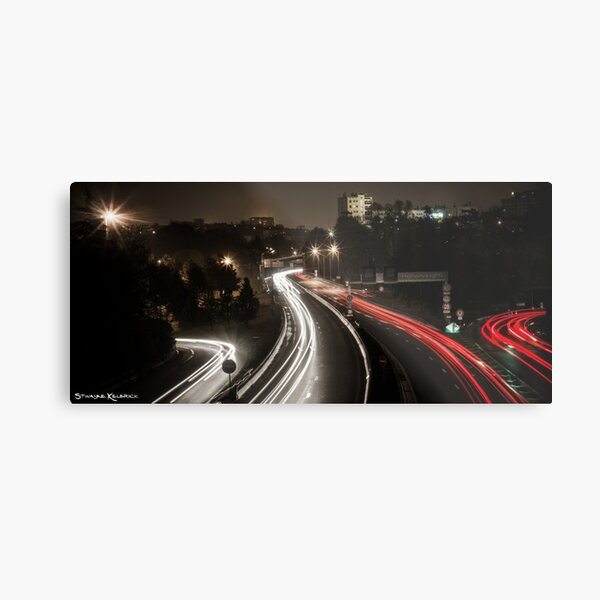 Highway's Lights Metal Print