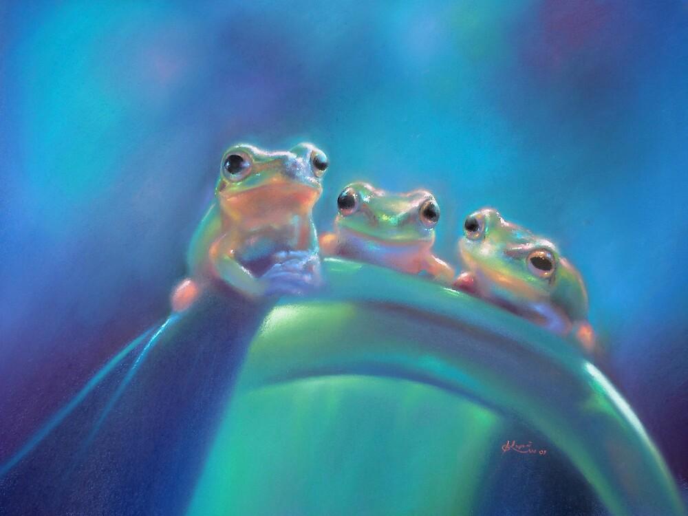 Froglet triplets by Koyomi Waki