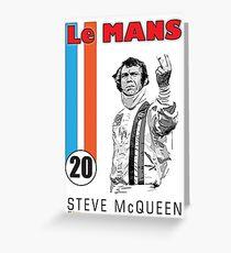 STEVE McQUEEN LE MANS Greeting Card