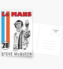 STEVE McQUEEN LE MANS Postcards