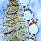 « Bonhommes de neige » par cindybarillet
