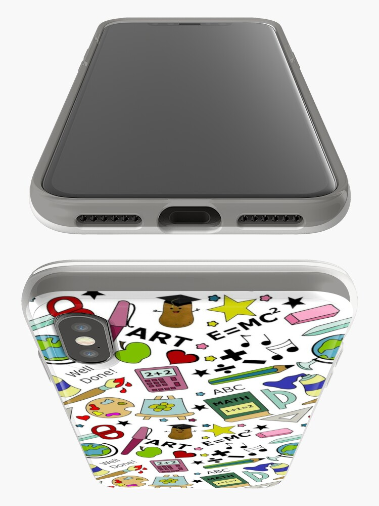 Alternate view of Back To School Supplies Doodle Art iPhone Case & Cover