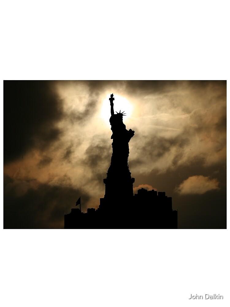 Liberty Sunset Silhouette by JohnDalkin