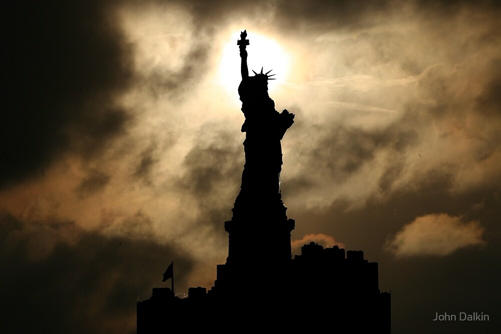Liberty Sunset Silhouette by John Dalkin