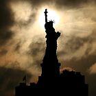 Liberty Sunset Silhouette by John Dalkin