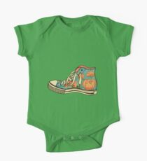 colored pattern gym shoes One Piece - Short Sleeve