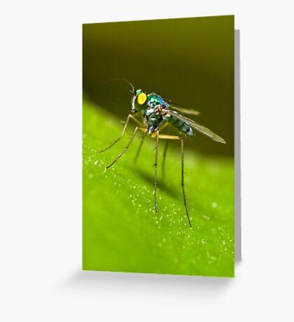 Green Predator Greeting Card