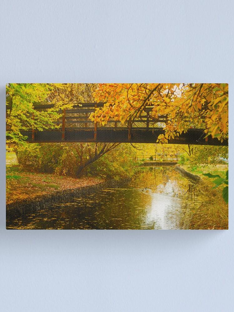 Alternate view of Bridge to Autumn Canvas Print