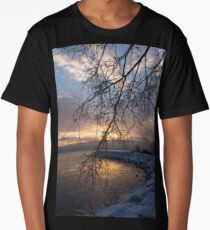 A Curtain of Frozen Branches - Ice Storm Sunrise Long T-Shirt